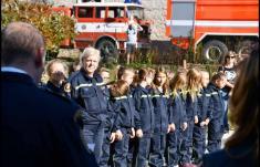 Křest hasičárny a slib Mladých hasičů v Tatcích