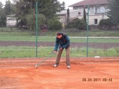 """Brigáda tenisový kurt duben 2011Michal """"DOKTOR"""" Smetana"""